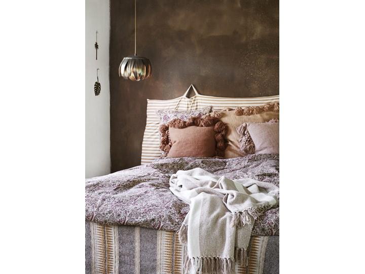 PLED NARZUTA  MADAM STOLTZ Bawełna 125x175 cm Kolor Beżowy Koc Pomieszczenie Salon