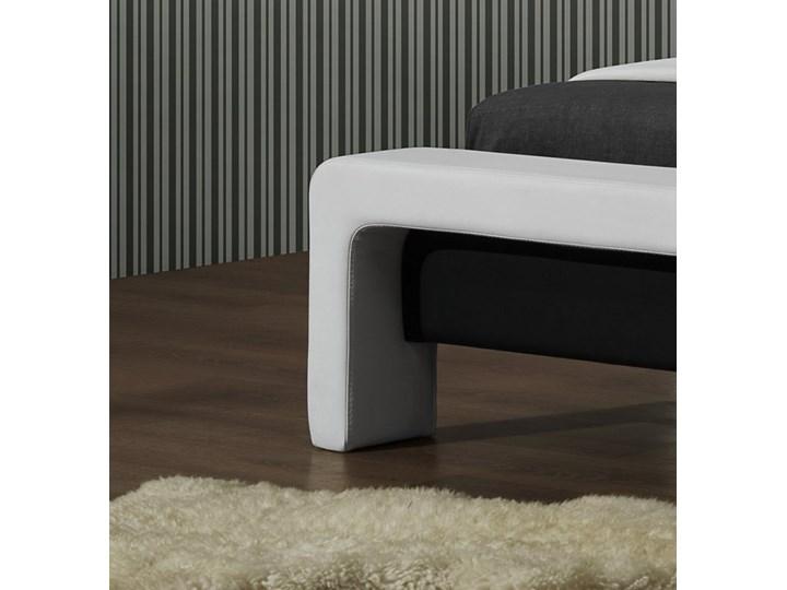 Tapicerowane ekoskórą łóżko z zagłówkiem Cassandra 160 Kategoria Łóżka do sypialni Łóżko tapicerowane Kolor Biały