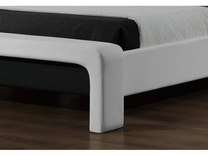 Tapicerowane ekoskórą łóżko z zagłówkiem Cassandra 160 Łóżko tapicerowane Rozmiar materaca 160x200 cm