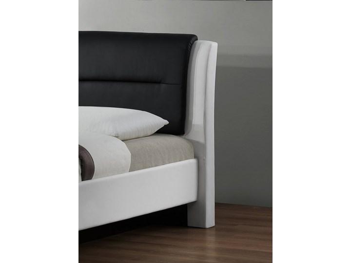 Tapicerowane ekoskórą łóżko z zagłówkiem Cassandra 160 Łóżko tapicerowane Kolor Biały Rozmiar materaca 160x200 cm