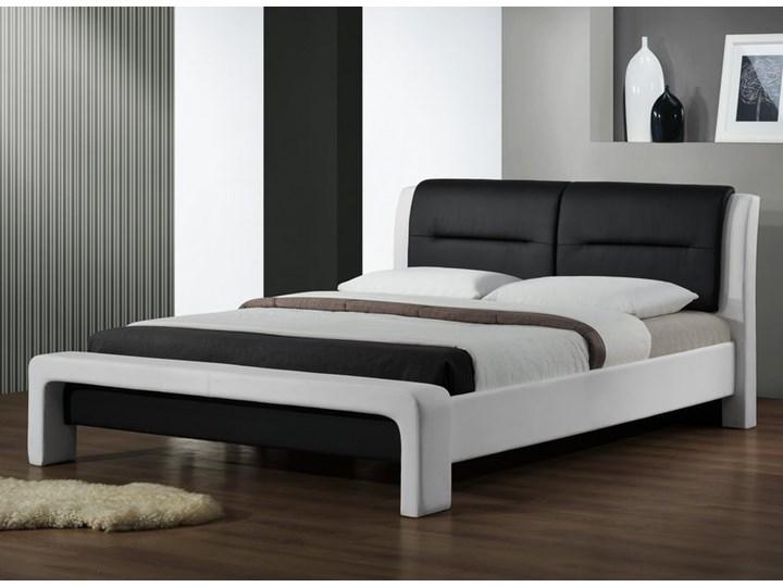 Tapicerowane ekoskórą łóżko z zagłówkiem Cassandra 160 Łóżko tapicerowane Kolor Biały