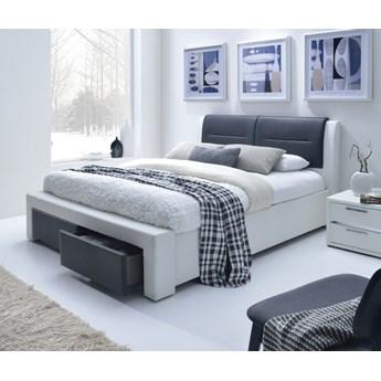 Łóżko z zagłówkiem tapicerowane ekoskórą Cassandra S 140