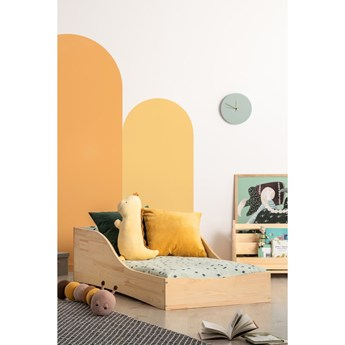 Dziecięce łóżko z drewna sosnowego Adeko Pepe Colm, 90x150 cm