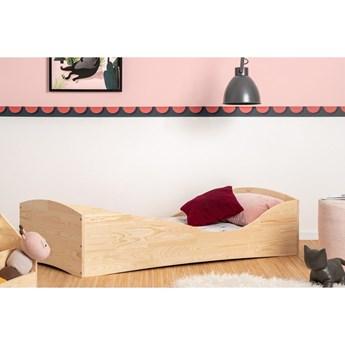 Dziecięce łóżko z drewna sosnowego Adeko Pepe Elk, 80x160 cm