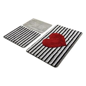 Zestaw 3 dywaników łazienkowych Alessia Heart Line