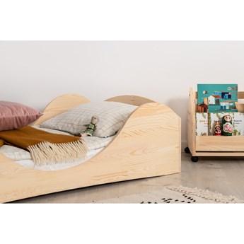 Dziecięce łóżko z drewna sosnowego Adeko Pepe Adel, 80x190 cm