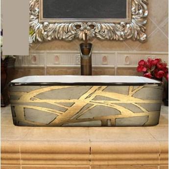 DORADA- nablatowa umywalka artystyczna ręcznie wykończona