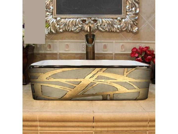 DORADA- nablatowa umywalka artystyczna ręcznie wykończona Nablatowe Kategoria Umywalki Szerokość 41 cm Ceramika Kolor Złoty