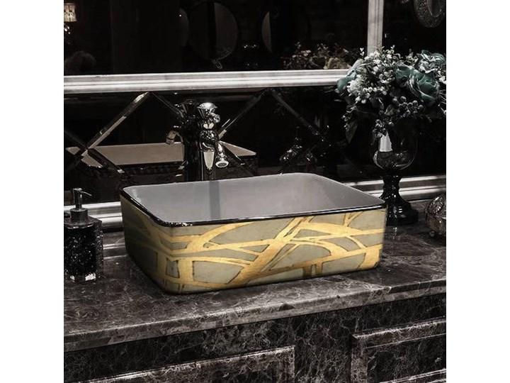 DORADA- nablatowa umywalka artystyczna ręcznie wykończona Szerokość 41 cm Ceramika Nablatowe Kategoria Umywalki