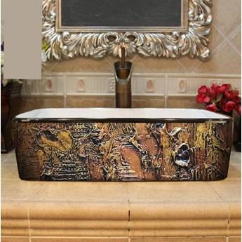 MARRONA- nablatowa umywalka artystyczna ręcznie wykończona