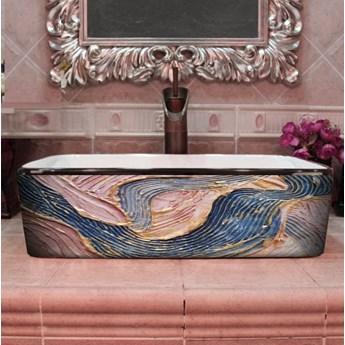 PASTEL WAVES- nablatowa umywalka artystyczna ręcznie wykończona