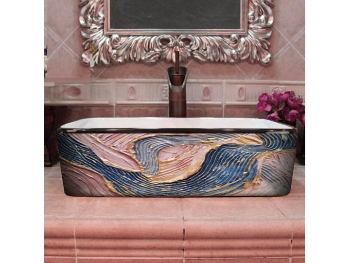 PASTEL WAVES- nablatowa umywalka artystyczna ręcznie wykończona Szerokość 41 cm Ceramika Nablatowe Kategoria Umywalki