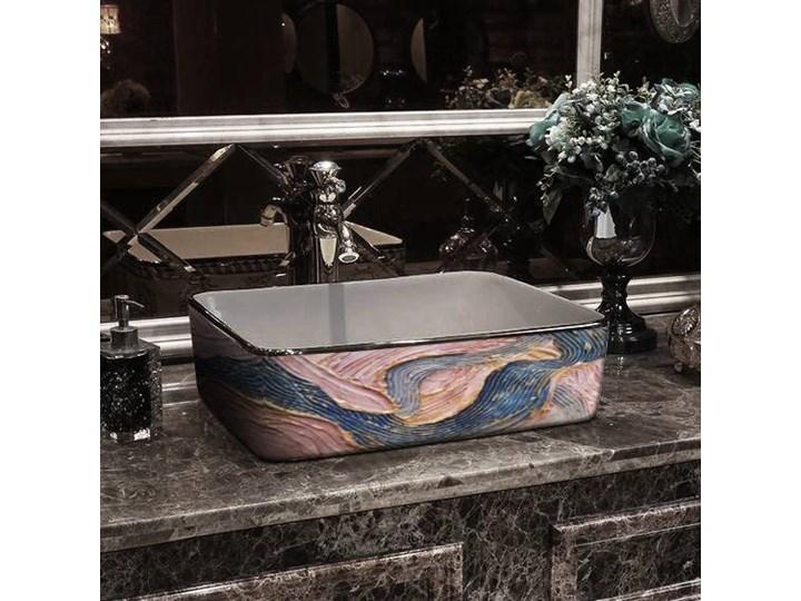 PASTEL WAVES- nablatowa umywalka artystyczna ręcznie wykończona Ceramika Nablatowe Kategoria Umywalki Szerokość 41 cm Kolor Beżowy