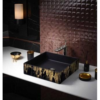 GOLDEN RAIN - nablatowa umywalka artystyczna ręcznie wykończona