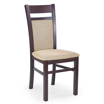 Drewniane krzesło w stylu skandynawskim Lettar - Ciemny orzech