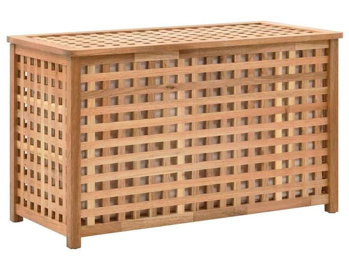 Skrzynia na pranie z drewna Kastilo 2X Drewno Kategoria Kolor Brązowy