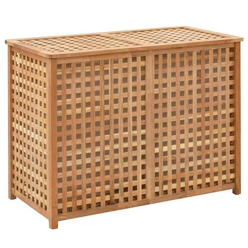 Podwójny kosz na pranie z drewna Kastilo 4X