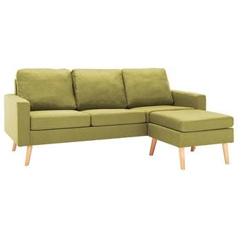 3-osobowa zielona sofa z podnóżkiem - Eroa 4Q