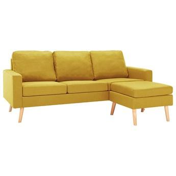 3-osobowa żółta sofa z podnóżkiem - Eroa 4Q