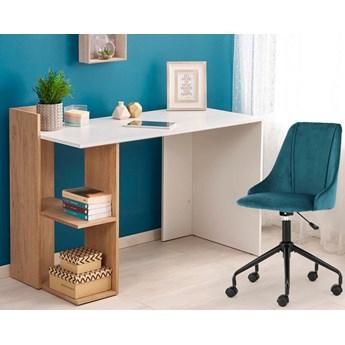 Skandynawskie biurko Multo - dąb złoty - biały