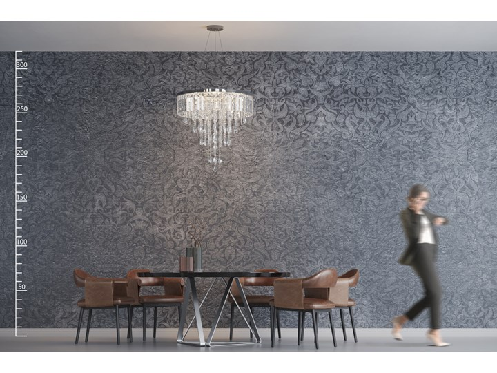 KALABRIA XL PENDANT Metal Lampa LED Kryształ Kategoria Lampy wiszące Lampa z kryształkami Kolor Srebrny