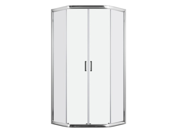 Kabina prysznicowa 5-kątna Durasan Diamond Inside 90 x 90 x 190 cm chrom Pięciokątna Rodzaj drzwi Rozsuwane Kategoria Kabiny prysznicowe