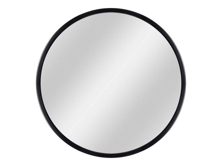 Lustro okrągłe Loft 63 cm w ramie czarne Pomieszczenie Przedpokój Ścienne Lustro z ramą Styl Industrialny