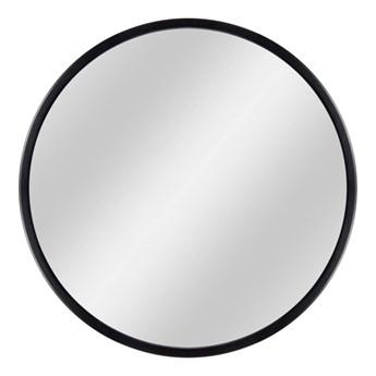 Lustro okrągłe Loft 73 cm w ramie czarne