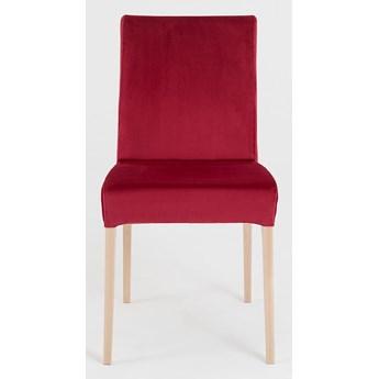 Krzesło tapicerowane customform DIANA – podstawa z naturalnego drewna