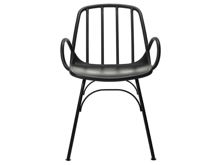 Krzesło CASTERIA czarne - polipropylen Głębokość 56 cm Szerokość 55,5 cm Tworzywo sztuczne Metal Pomieszczenie Salon Wysokość 82 cm Kategoria Krzesła kuchenne