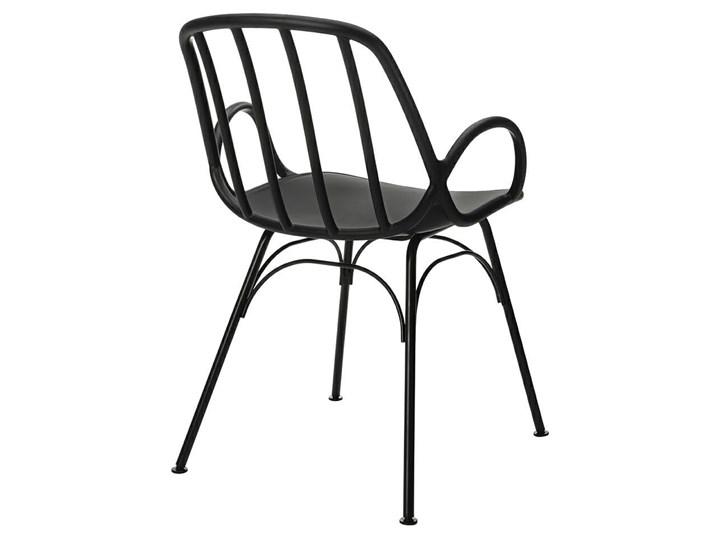 Krzesło CASTERIA czarne - polipropylen Szerokość 55,5 cm Metal Wysokość 82 cm Głębokość 56 cm Tworzywo sztuczne Pomieszczenie Kuchnia