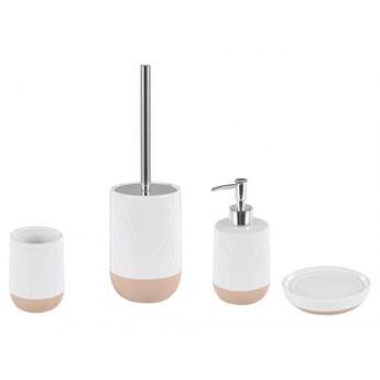 4-częściowy zestaw akcesoriów łazienkowych biały LEBU kod: 4251682253802