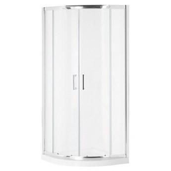 Kabina prysznicowa szkło hartowane 90 x 90 x 185 cm srebrna JUKATAN kod: 4251682254649