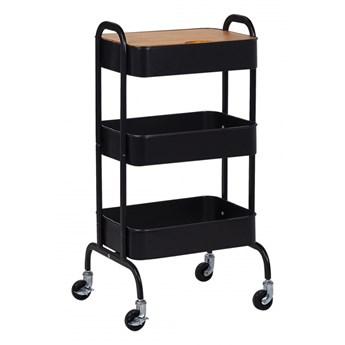 Wózek kuchenny czarny LUCCA kod: 4251682254083