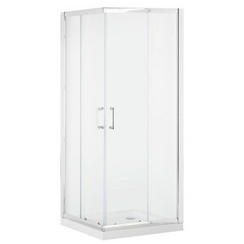Kabina prysznicowa szkło hartowane 90 x 90 x 185 cm srebrna TELA kod: 4251682254625