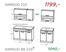 Zestaw kuchenny KAMDUO 210 - grusza/zebrano