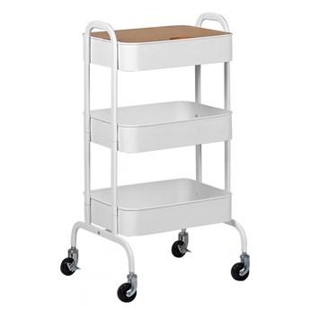 Wózek kuchenny biały LUCCA kod: 4251682254113