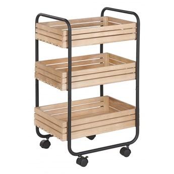 Wózek kuchenny jasne drewno z czarnym FORMIA kod: 4251682257145