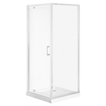 Kabina prysznicowa szkło hartowane 80 x 80 x 185 cm srebrna DARLI kod: 4251682254663