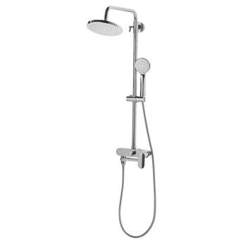 Kolumna prysznicowa z deszczownicą srebrna GURARA kod: 4251682241663