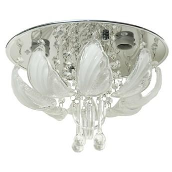 Piękna plafoniera kryształowa LED CLAY P-S 658C/3 CR