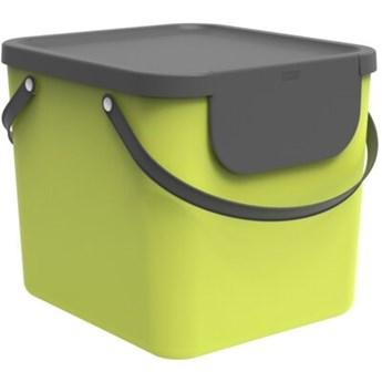 Kosz na śmieci ROTHO 1034405070 Albula 40 L Limonkowy