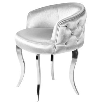 Fotel Cristall Glamur Silver