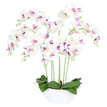 Storczyk sztuczny 56 kwiatów biały