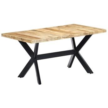 Jasnobrązowy stół z drewna mango – Kalis 4X