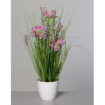 Kompozycja z Polnych Kwiatów 38 cm - Różowa