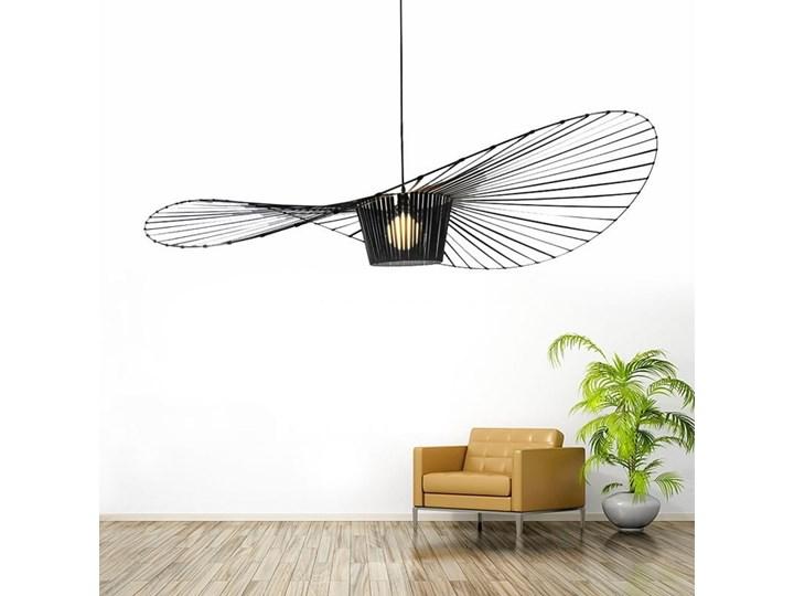 Lampa wisząca kapelusz CAPELLO L czarna Lampa z kloszem Lampa inspirowana Tworzywo sztuczne Kolor Czarny
