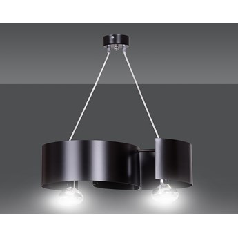 VIXON 2 BLACK 284/2 nowoczesna lampa wisząca chrom czarna