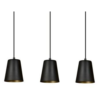 MILGA 3 BLACK-GOLD 415/3 nowoczesna lampa wisząca czarna środek złoty