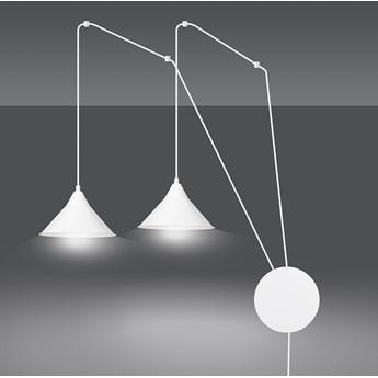 ABRAMO 2 WHITE 159/2 lampa sufitowa wisząca regulowana najnowszy design biała loft